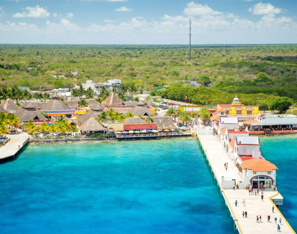 Cozumel-Cruise-Port-aerial-view-