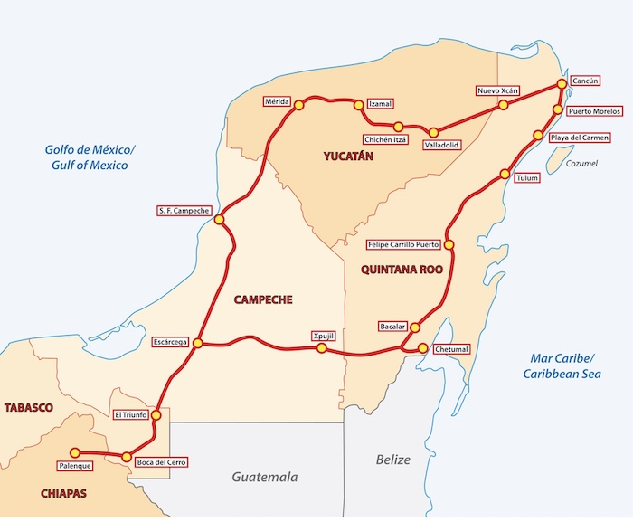 Maya Train route