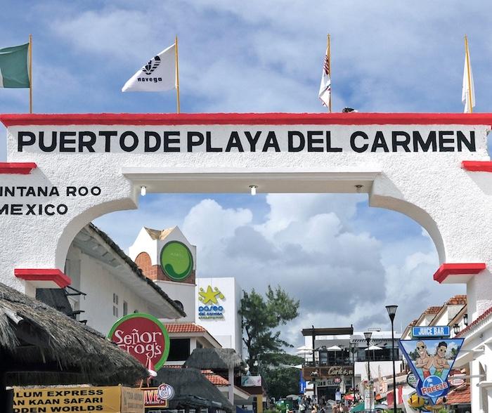 Pier at Playa Del Carmen, Mexico