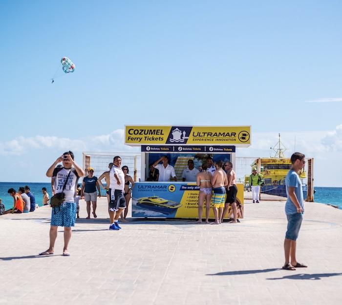 Playa del Carmen ferry dock