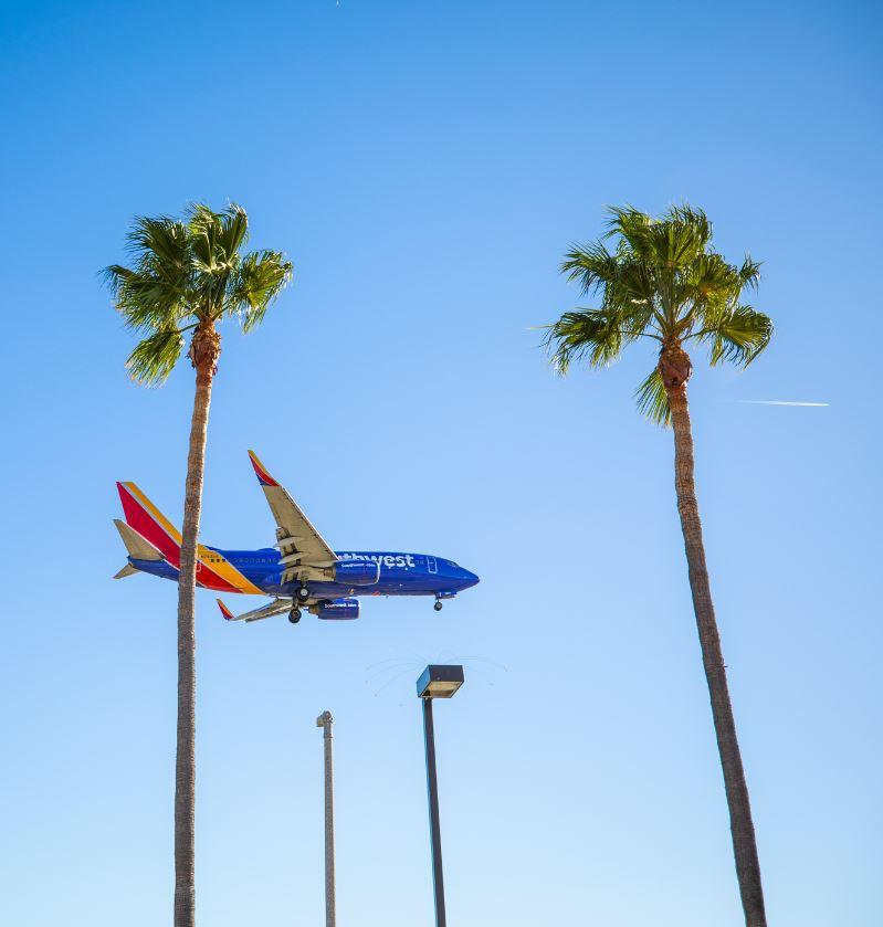Southwest Airline plane landing