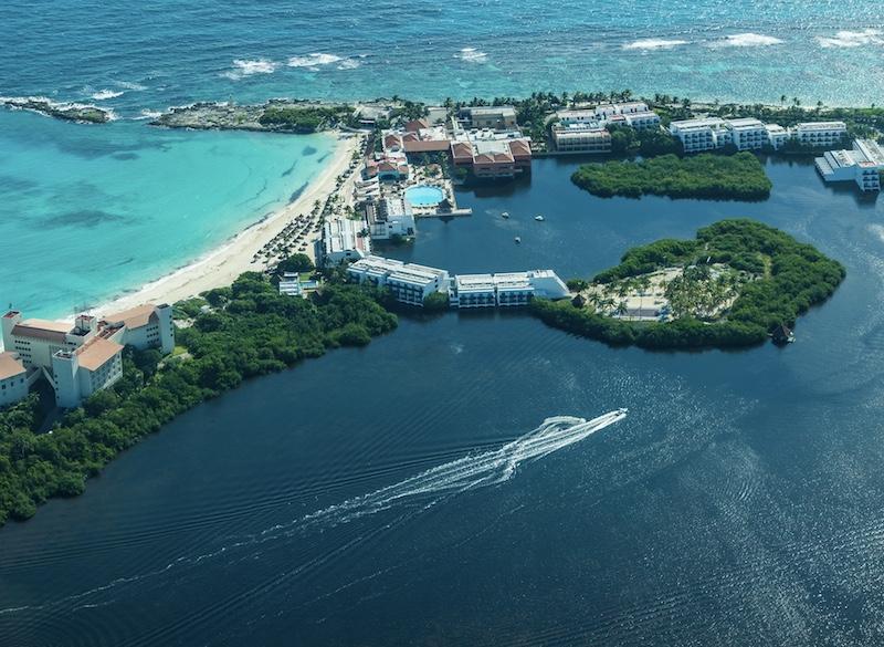 aerial view Cancun