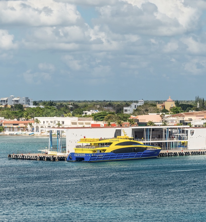ferry pier in San Miguel Cozumel, Mexico