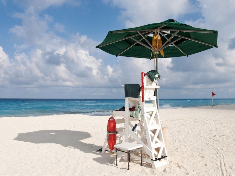 lifeguard seat Cancun beach