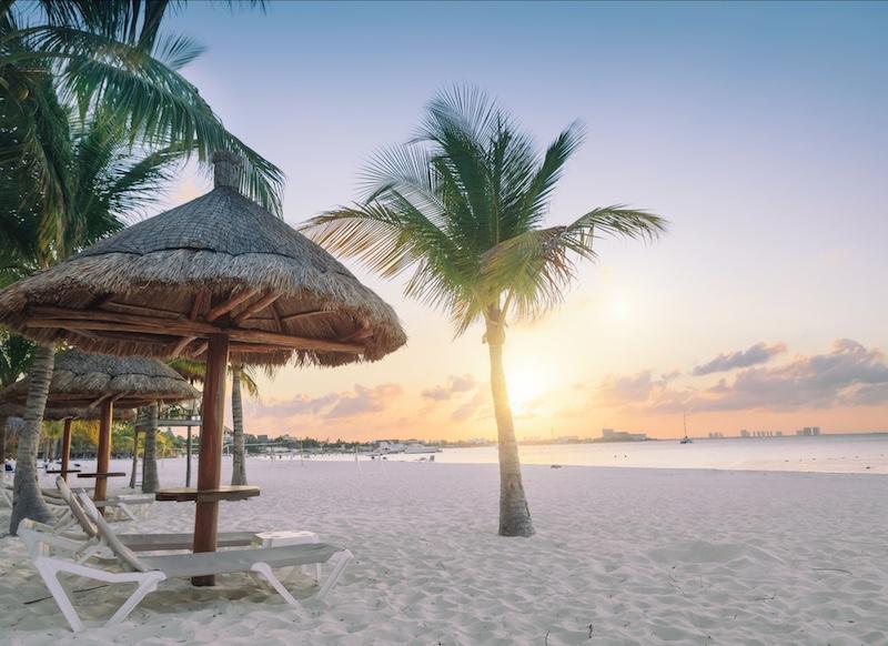 sunset Cancun beach
