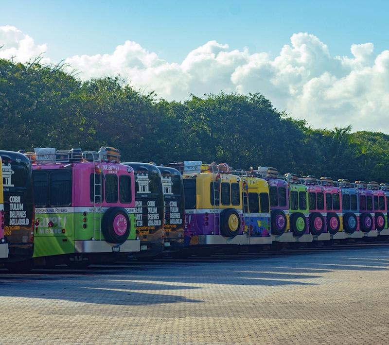 tourist buses Tulum