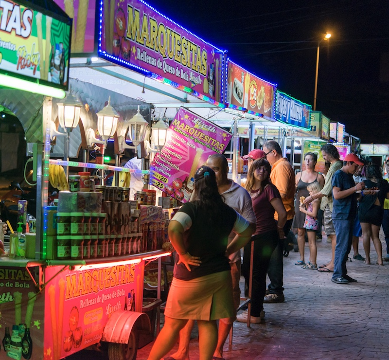 Cancun downtown tourists
