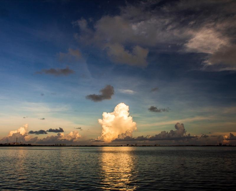 sunset Nichupté Lagoon