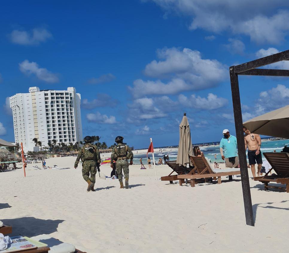 Marines on Beach in Cancun