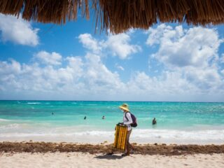 After an abnormally challenging sargassum season this year, Playa del Carmen beaches receive a much needed clean with the help of local crews and of course - hurricane Grace passing through.